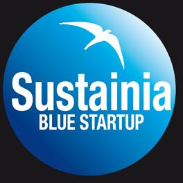 Logo de SUSTAINIA blue startup