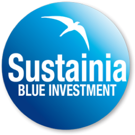Logo de Sustainia blue investment